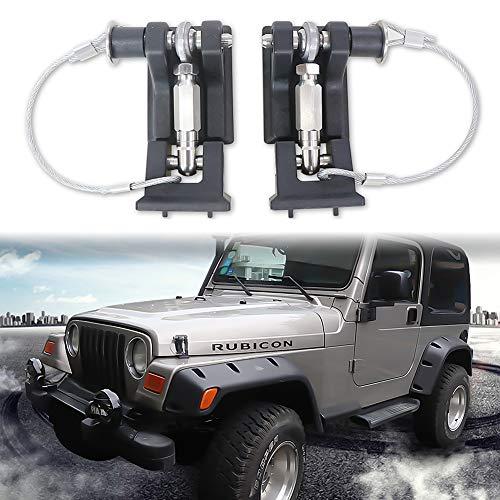 Sukemichi Hood Latches with Lock,TJ Hood Locks for Jeep Wrangler TJ 1997-2007 Upgrade 1Pair