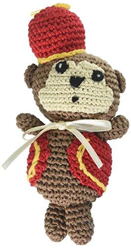 Mirage Pet Products 500-013 Knit Knack Fez Monkey Organic Cotton Dog Toy, Small