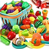 70 PCS Cutting Play Food Toy for...