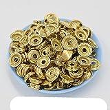 30 juegos de broche de metal 12.5 mm 15 mm Sujetador de botones de metal Remaches Cierre de broche de presión Botones Botones de chaqueta-15 mm dorado claro