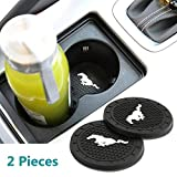 Bocianelli 2 Pcs 2.75 inch Car Interior Accessories Anti Slip Cup Mat for Mustang All Models