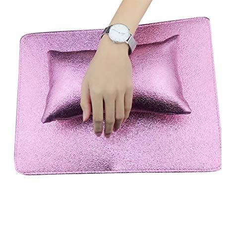 YJS Nail Art Hand Kussen Tafel Mat Manicure Hand Set Arm Rest Kussen Salon Manicure Tool PU Lederen Spons - Paars Rood, Paars Rood