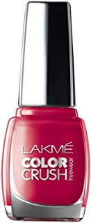 Lakme True Wear Color Crush Nail Color, Red 24, 9ml