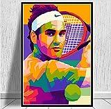 MZCYL Leinwand Malerei Wandkunst Bild Roger Federer Tennis