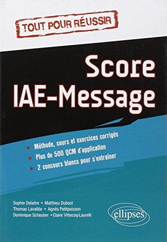 Tout pour Réussir Score IAE-Message