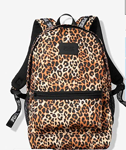 LIMITED! VICTORIA SECRET - SOLD OUT - RARE LEOPARD BLING. CAMPUS BACKPACK Made by PINK