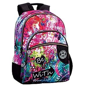 51dv7X0dIvL. SS300  - Montichelvo Montichelvo Double Backpack A.O. CG Be Brave Bolsa Escolar, 43 cm, Multicolor (Multicolour)