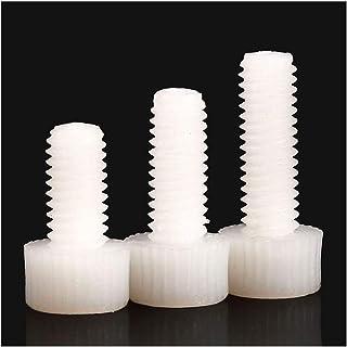 Aexit 10pcs Hexagon Head Cap Nylon Plastic Screw Thread Right Hand M8 x 60mm