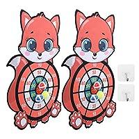アニマルダーツボード、約。 45 X 34CM漫画ダーツボード、女の子のホームボーイのために屋外で使用するのに便利(Fox sticking target)