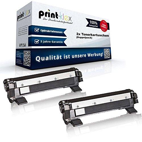 2x kompatible XXL Tonerkartuschen für Brother MFC1815 MFC1910 MFC1910W MFC1911NW Black Schwarz TN1050 Doppelpack - Büro Pro Serie