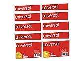 Universal ruled tarjetas de índice, color blanco