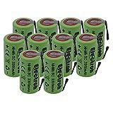 10X Batteria Pila NI-MH SC 3300mAh 3.3Ah 1,2V con lamelle linguette a saldare per pacchi batterie trapani torce allarmi
