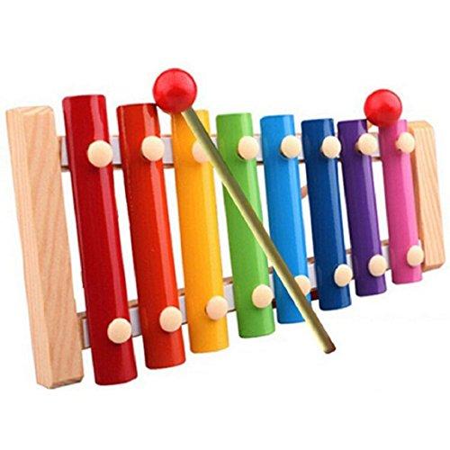 Amison Bella Xilofono Strumento di legno Giocattoli musicali per bambini