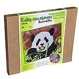 Arenart   1 Lámina Oso Panda 46x38cm   para Pintar con Arenas de Colores   Manualidades para Adultos y Jóvenes   Dibujo Fácil   Pintar por números   +9 años
