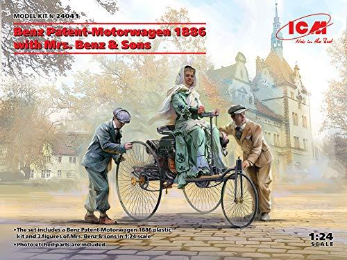ICM 1/24 Scale Benz Patent-Motorwagen 1886 with Mrs. Benz & Sons - Plastic Model Building Set # 24041