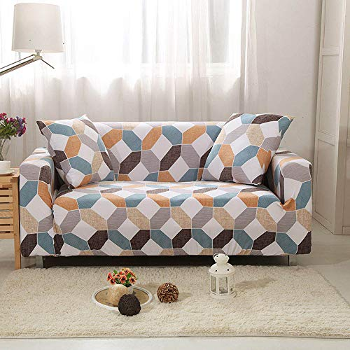 WXQY Funda elástica para sofá, Funda elástica para sofá, sillón en Forma de L, Funda combinada para sofá, Toalla, Funda para sofá, Funda Protectora para Muebles A12, 3 plazas
