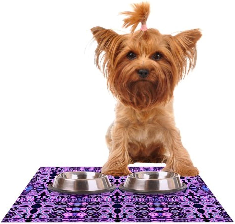 Kess InHouse Nina May Medea Quilt  Feeding Mat for Pet Bowl, 24 by 15Inch