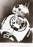Poster Droide BB-8 STAR WARS Grafiti Hecho a Mano - Handmade Street Art - Artwork
