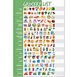 Visual Grocery List Magnet Pad for Fridge - Icon Shopping List Magnetic Pad for Refrigerator - 6 x 9 inches - 50 Tear-Off Sheets - Weekly Planner Memo Notepad for Meal Planning, Menu, Food & Groceries