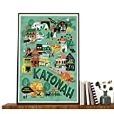 Poster #Katonah Name Of A Indianer-Wandkunst, Welcome To