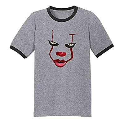 Pop Threads You'll Float Too Loser Lover Horror Scary Clown Graphic Tee Ringer T-Shirt