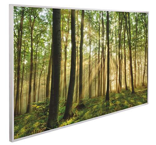INFRAROT-HEIZUNG 600W-Waldlichtung-(1036)- 60x100 cm-Bild-Heizung Heiz-Panel Elektro-Heizung Heiz-Körper Heiz-Strahler Heiz-Platte Strahlungsheizung Flach Zertifikate ROHS SAA CE-Garantie 5 Jahre
