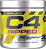 Cellucor C4 Ripped Pre Workout Powder Ultra Frost | Creatine Free + Sugar Free Preworkout Energy Supplement for Men & Women | 150mg Caffeine + Beta Alanine + Weight Loss | 30 Servings