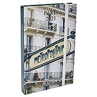 ドレジャー 2021年 ポケットアジェンダダイアリー PARIS 手帳 パリ 風景 カレンダー ブックマーカー 写真 フランス 文房具