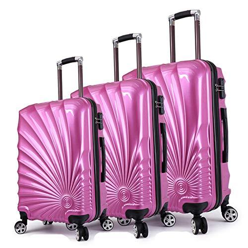 Maleta Cabina XYDBB Equipaje Maleta Cabina Juego de Ruedas Maleta de Viaje con Ruedas giratorias Cabina Carry On Trolley Bag Fashion Case 24'3pcs Purple Set