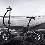 Bici electrica Plegable 20 Pulgadas Engranajes de 7 velocidades Batería de 50 a 55 km de autonomía ultralarga Cuadro Plegable de aleación de Aluminio Bicicleta eléctrica Inteligente