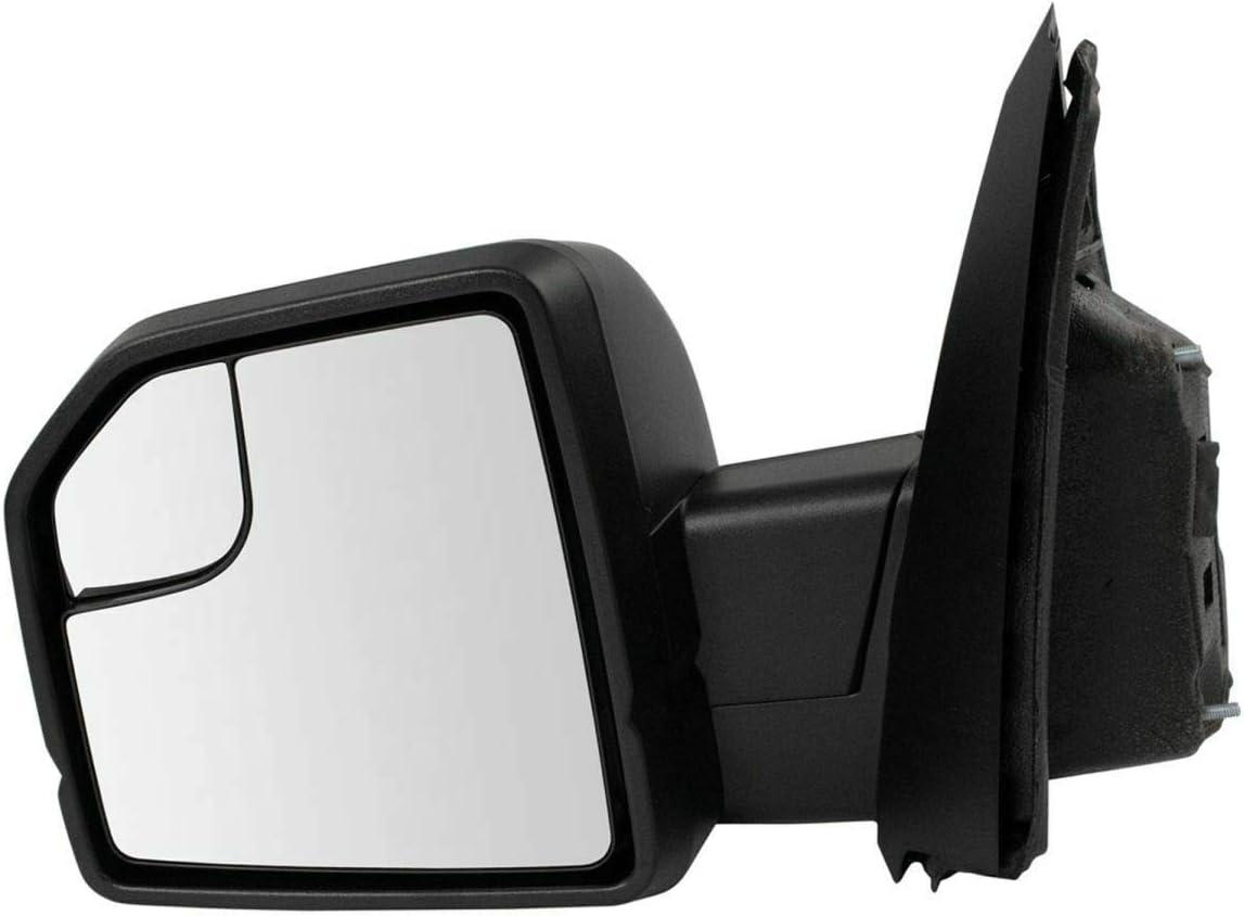 Mirror Power Heated LED Turn Signal Black Driver L Side 2021 half Textured