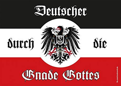 Aufkleber/Sticker - Deutscher durch die Gnade Gottes (Sticker-Set 10 Stück)