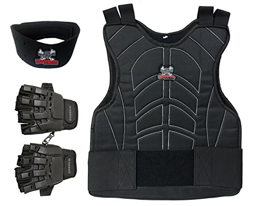 Maddog Padded Paintball Chest Protector Combo Package - Black - Large/X-Large