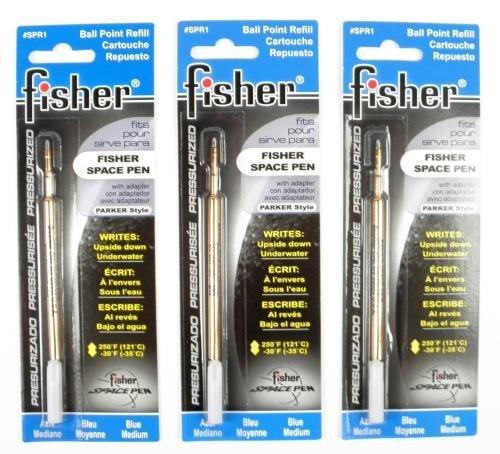 Fisher Space Pen 3 Minen Blau Mittel