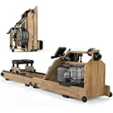 LSQR Máquina De Remo De Madera Maciza Máquina De Remo Plegable Equipos De Fitness para El Hogar Ruido Bajo Adecuado para Entrenamiento De Fuerza Y Entrenamiento Aeróbico