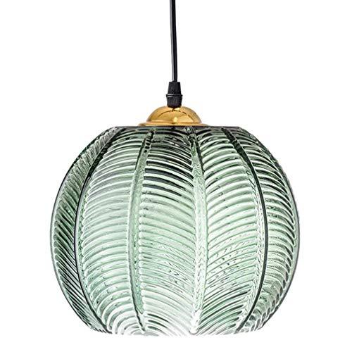 YA&NG Lámpara Colgante De Vidrio Verde Nórdico Lámpara De Techo Moderna E27 Pantalla Lámparas Colgantes Sala De Estar Comedor Lámpara Art Deco Iluminación De Decoración Interior,20cm