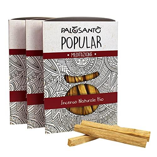 Palo Santo Stäbchen Variante Popular Suyo - Natürlicher Weihrauch – 100% Bursera Graveolens – Zertifiziertes Holz - 42 Stck.