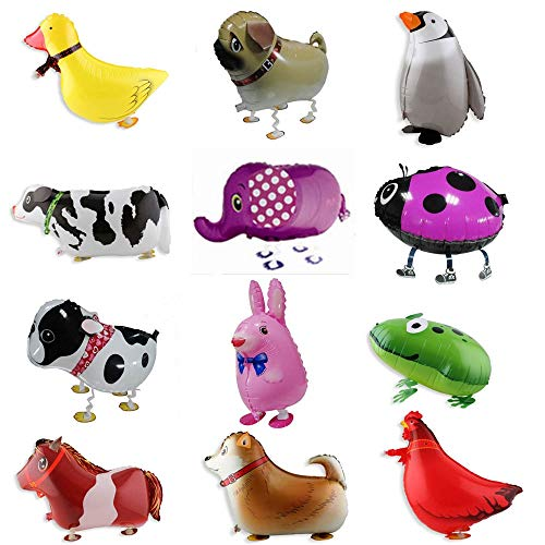 Big Save! Utini HOT 200pc/lot Walking pet Aluminum air Balloon Toy Inflatable Ball Animal Ballon for...