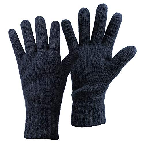 ALPIDEX Thermo Strickhandschuhe Thinsulate Handschuhe Damen Herren Warme Winter Handschuhe, Größe:S, Farbe:Dark Blue