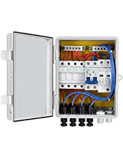 ECO-WORTHY Solar Combiner Box- Fused Pre-Wired 4-String /6-String 10A Breakers Surge Protection