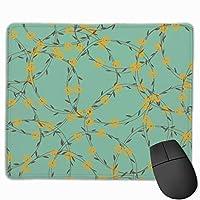 緑色 つる 花 マウスパッド 運びやすい オフィス 家 最適 おしゃれ 耐久性 滑り止めゴム底付き 快適操作性 30*25*0.3cm