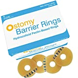 [Pack of 12] Ostomy Barrier Ring, 50mm Diameter No Leak Barrier Extenders for Ostomy Bag, Colostomy Bags Elastic Rings, Barrier Rings for Stoma, Ostomy Supplies, LatexFree, Waterproof & Moldable