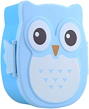 Cartoon Owl Shaped Lunch Box Bento Box Portable Food Container With Spoon For Kids Child Student Food Storage Box Outdoor Picnic (Blue)