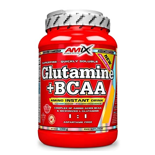 AMIX Glutamine + BCAA Powder - 1 Kg Lemon-Lime