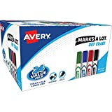 Avery Marks A Lot Value Pack Dry Erase Markers, White Board Markers with Chisel Tip,24 Assorted Colors (98188)