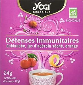 YOGI - Infusion BIO Défenses Immunitaires - 24,0 g (12 sachets de 2 g)
