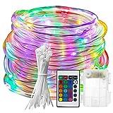 ZHENGRUI Trampolinlicht Fernbedienung Trampolin Außenkante LED-Licht 16 Farbwechselndes Wasserdichtes LED-Nachtlicht für Trampolin,304cm