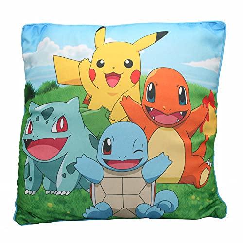 Starter Team | Kinder Kissen 40 x 40 cm | Pokemon | Dekokissen