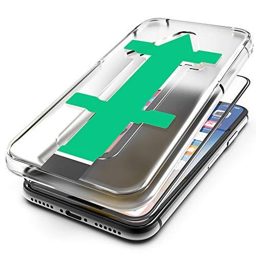 hardwrk Premium 3D Glass mit Anbringhilfe für iPhone XR & 11 (6.1 Zoll) – schwarz - 9H Glas Displayschutzfolie Schutzglas Folie - Kratzfest, Anti-Fingerprint