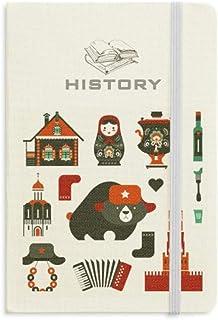ロシアウォッカアコーディオン人形クマ 歴史ノートクラシックジャーナル日記A 5